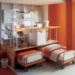 çalışma masalı katlı yatak