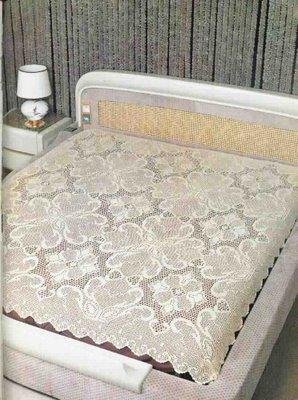 çiçekli yeni dantel yatak örtüsü yapılışı anlatımlı modelleri
