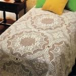 çok şık dantel el işi tığ yatak örtüsü resimleri