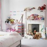 şömineli çocuk oda