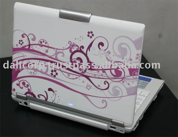 Beyaz modern laptop sticker