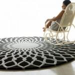Beyaz la Şekillendirilmiş  Gri Step Halı Modelleri Çeşitleri 2012