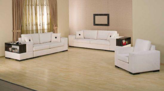 Geniş ve ferah salonlar için iki kanepe bir koltuktan oluşan modern koltuk takımı