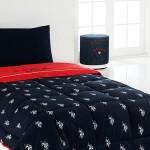 Kırmızı Siyah Desenli Tek Kişilik Uyku Seti Modelleri 2012