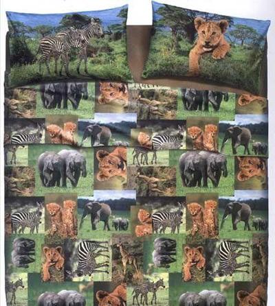Safari Hayvanları Desenli Nevresim Takımı Modelleri Resimleri 2012