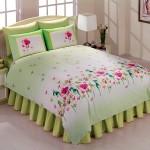 Yeşil Renkli Çiçekli Uyku Seti Modelleri 2012