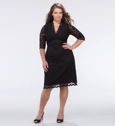 dantelli büyük beden elbise modelleri