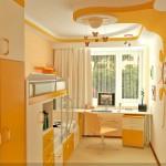 değişik renkler ile tasarlanmış genç odası dekorasyonu