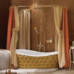 harika banyo dekorasyonu perdeli model