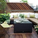 hasır modern balkon mobilyasi