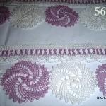 havlu kenarı örnekleri mor beyaz dantel