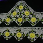 havlu kenarı örnekleri sarı göbekli dantel