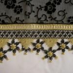 havlu kenarı örnekleri siyah sarı oya