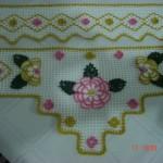 havlu kenarları örnekleri çiçek motifli dantel