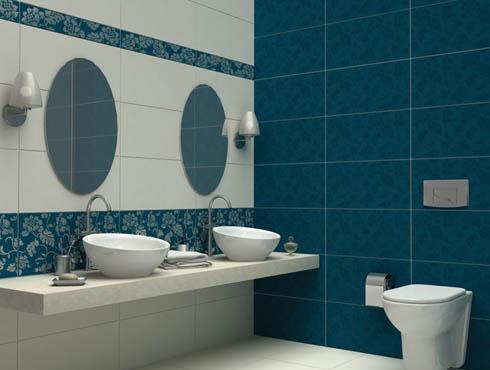 mavi banyo fayans modelleri