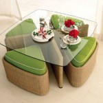 puf tabureli mutfak masa tasarımları
