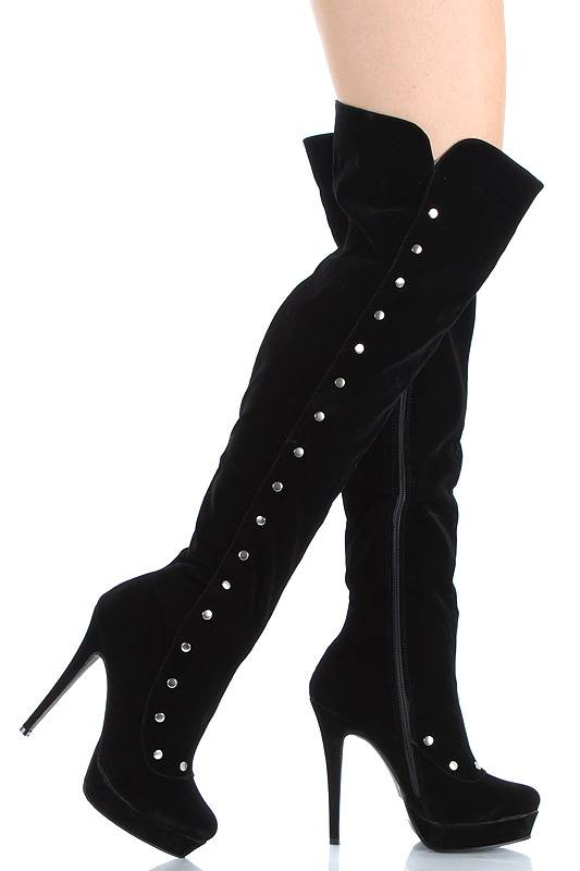 seksi diz üstü çizme modeli