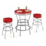 tabure sandalyeli yuvarlak mutfak masası