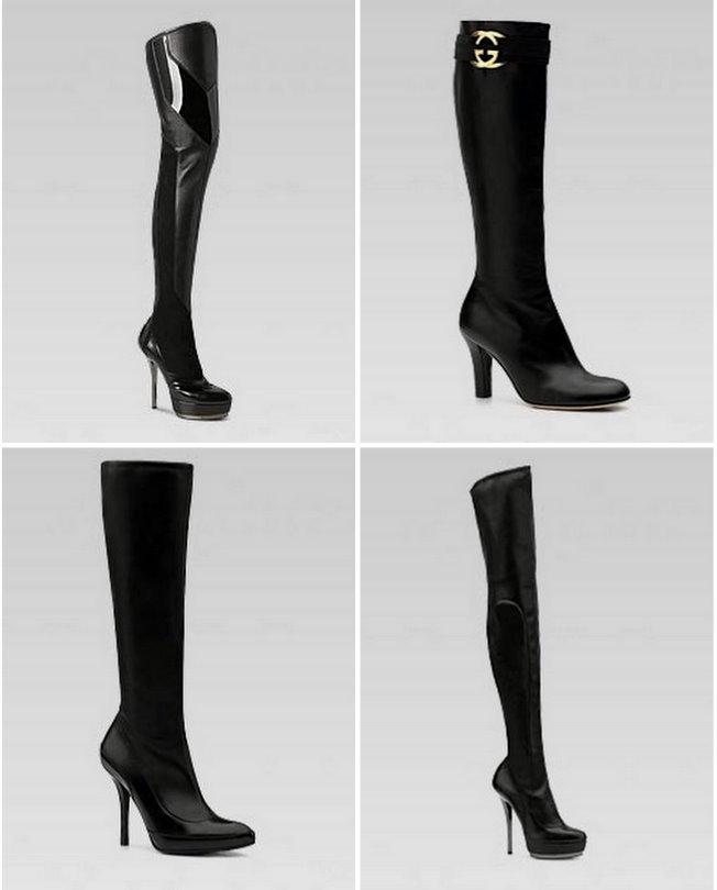 topuklu son moda çizmeler