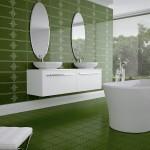yeşil banyo seramik fayans