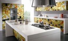 Son moda desenli mutfak dolapları
