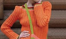 Örgü Çantalı Bayan Kazak ve Bere Modeli