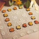 çiçek motifli salon takımı dantel örnekleri