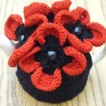 çiçekli boncuk taşlı çaydanlık kılfı