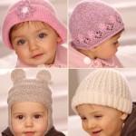 çiçekli pembe bebek şapkası