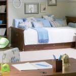 çilek genç odası çekmeceli yatak  tasarımı