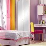 çilek genç odası aynalı komodin tasarımı cibinlik