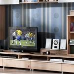 çilek genç odası kitaplık ve tv ünitesi tasarımı