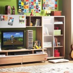 çilek genç odası tv ünitesi tasarımı