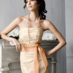 çok şirin straplez elbise modeli