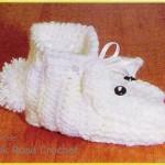 çok tatlı ponponlu fareli bebek patik örnekleri