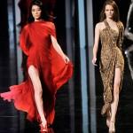 çok trend derin yırtmaçlı elbise örnekleri