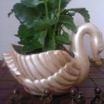 ördek dekoratif saksı modeli