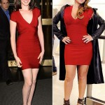 ünlülerin çok şık kırmızı elbise modelleri
