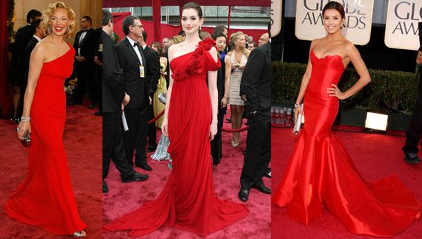 Ünlülerin çok şık kırmızı elbiseleri