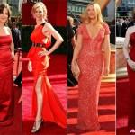 ünlülerin en modern kırmızı elbise modelleri