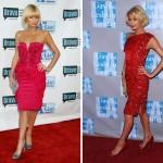 ünlülerin en seksi kırmızı elbiseleri