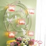 şık mumlarla yapılmı dekoratif ışıklandırma