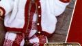 Kırmızı Beyaz Kare Modelli Bebek Tulumu Örneği