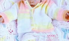 Burgu Modelli Örgü Bebek Çorabı Örneği
