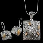 2012 gümüş kare kolye seti