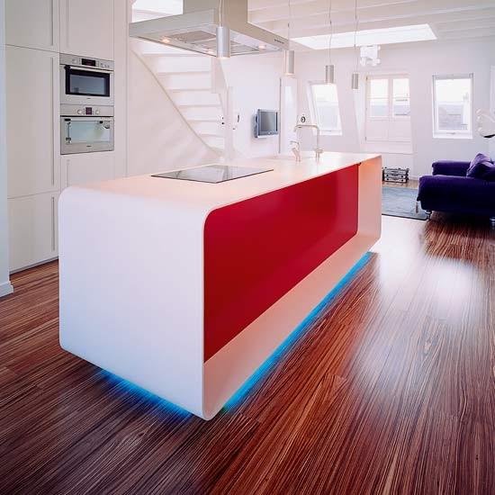 2012 modern amerikan mutfak tasarımı