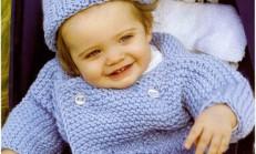 Erkek Bebekler İçin Hırka Şapka Modeli