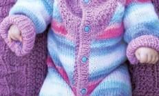 Örgü Bebek Tulumu ve Şapka Modeli