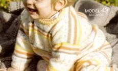 Yuvarlak Yaka Erkek Bebek Kazak Modeli