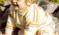 Modelli Erkek Bebek Örgü Pantolon Örneği